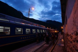 Boarding our train to Aguas Calientes