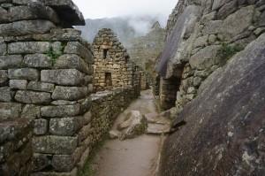Exploring the extensive village of Machu Picchu