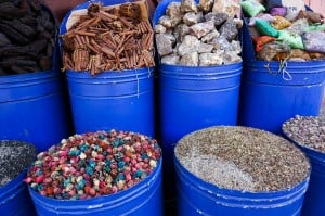 Marrakesh market stalls