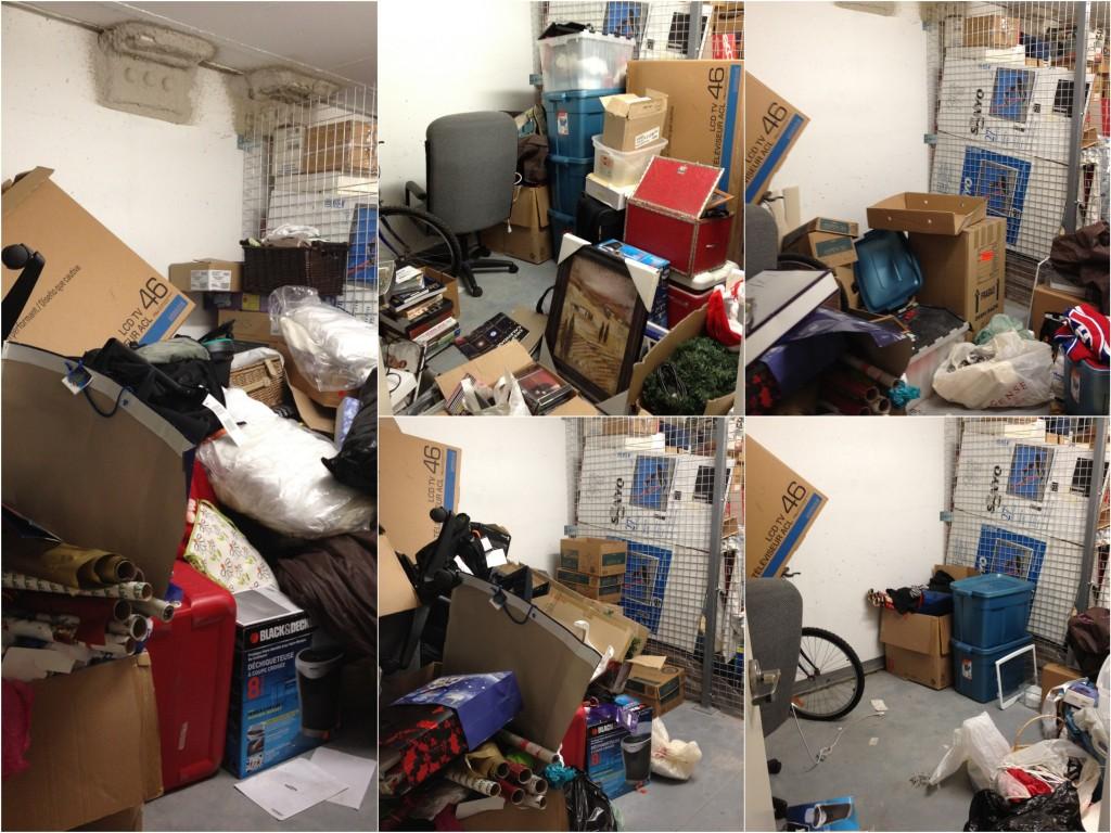 Storage room mess