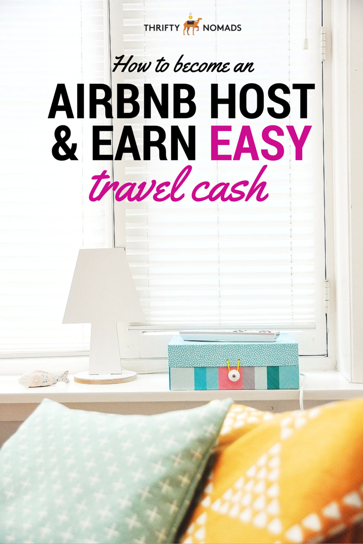 Hosting your home, couch, or room on AirBN is an easy way to earn travel money. Here\'s a step-by-step guide to becoming an AirBNB host. #airbnb #airbnbhost #howtobeairbnbhost #airbnbguide