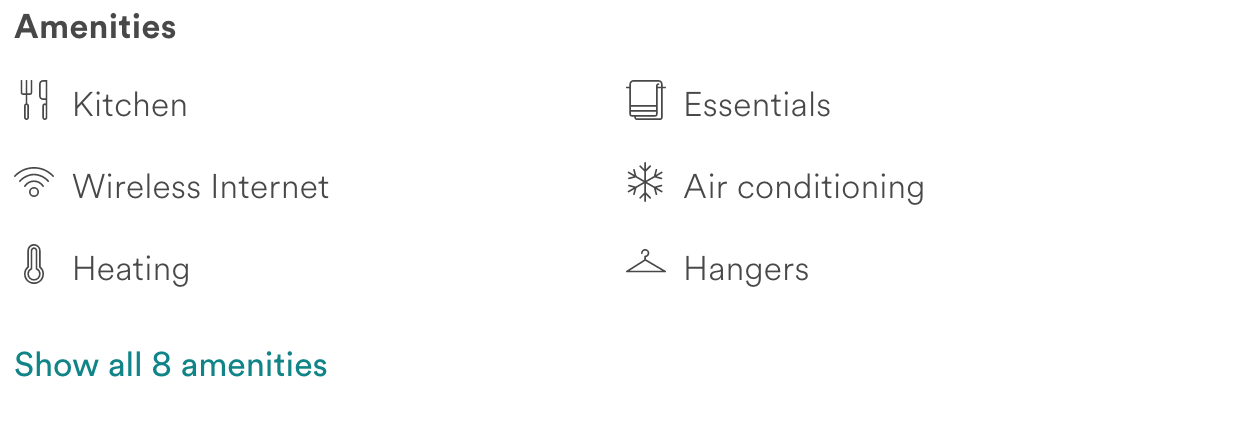 airbnb host amenities