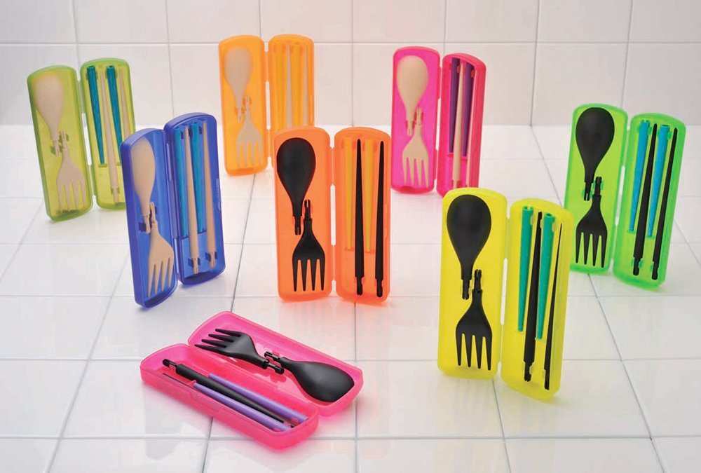Portable cutlery utensil set