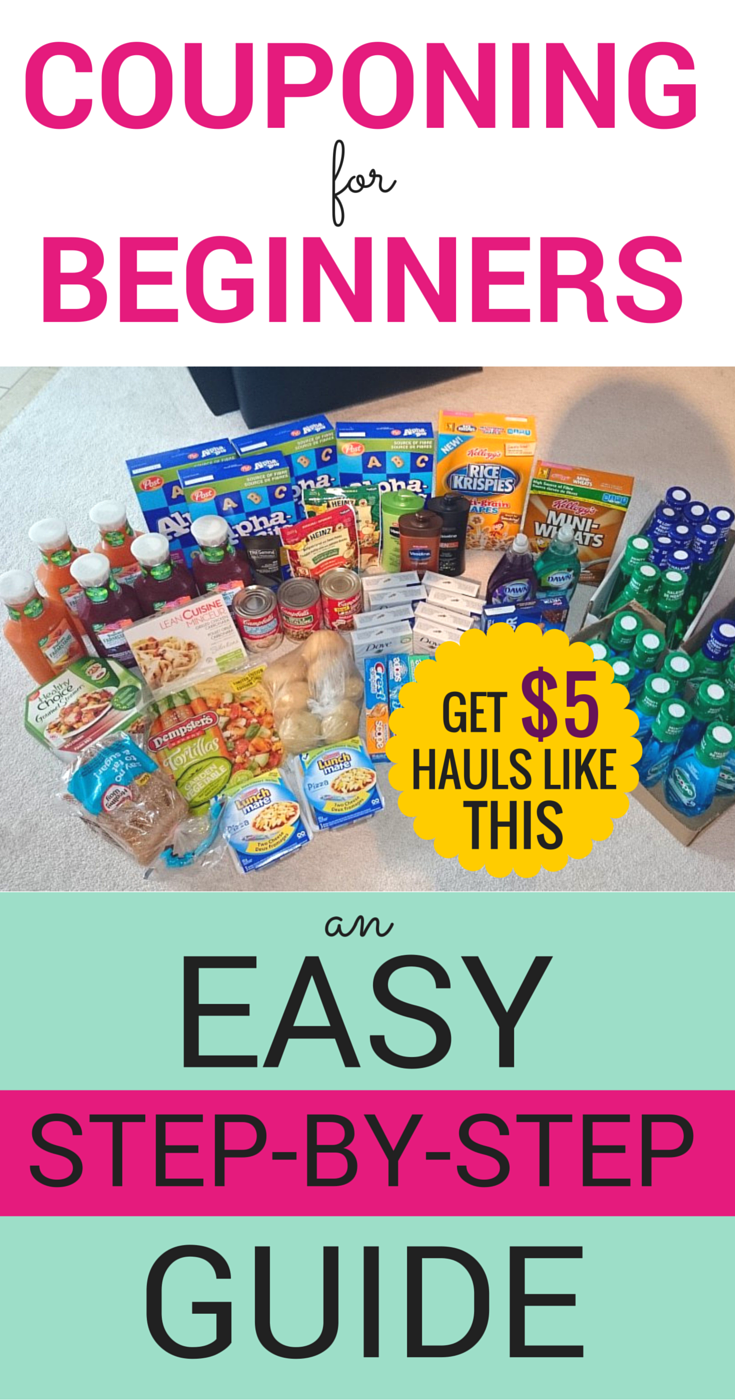 Couponing can save you thousands in groceries & home products. Here\'s an EASY step-by-step guide to couponing like a pro! #couponing #extremecouponing #couponguide #howtocoupon #saveongroceries