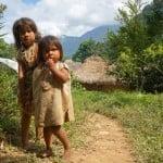 Kogi children in front of their village.
