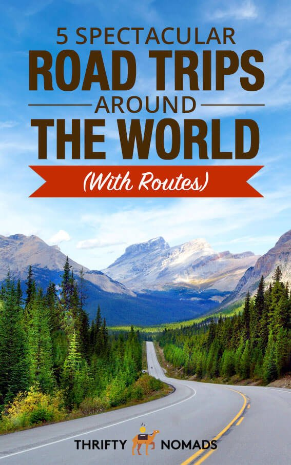 5 EPIC road trips around the world with routes, highlights & tips. #roadtrip #roadtripinspiration #travelinspiration #roadtripitinerary