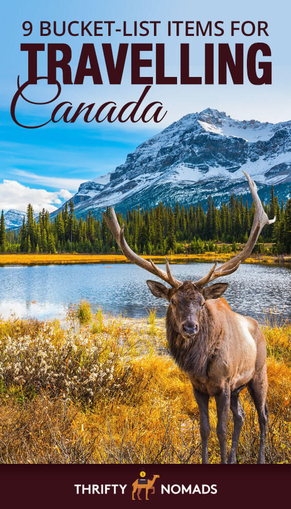 Don\'t head to Canada without checking any of these bucket list items off for your visit! #canada #canadatravel #canadabudget #canadacheap