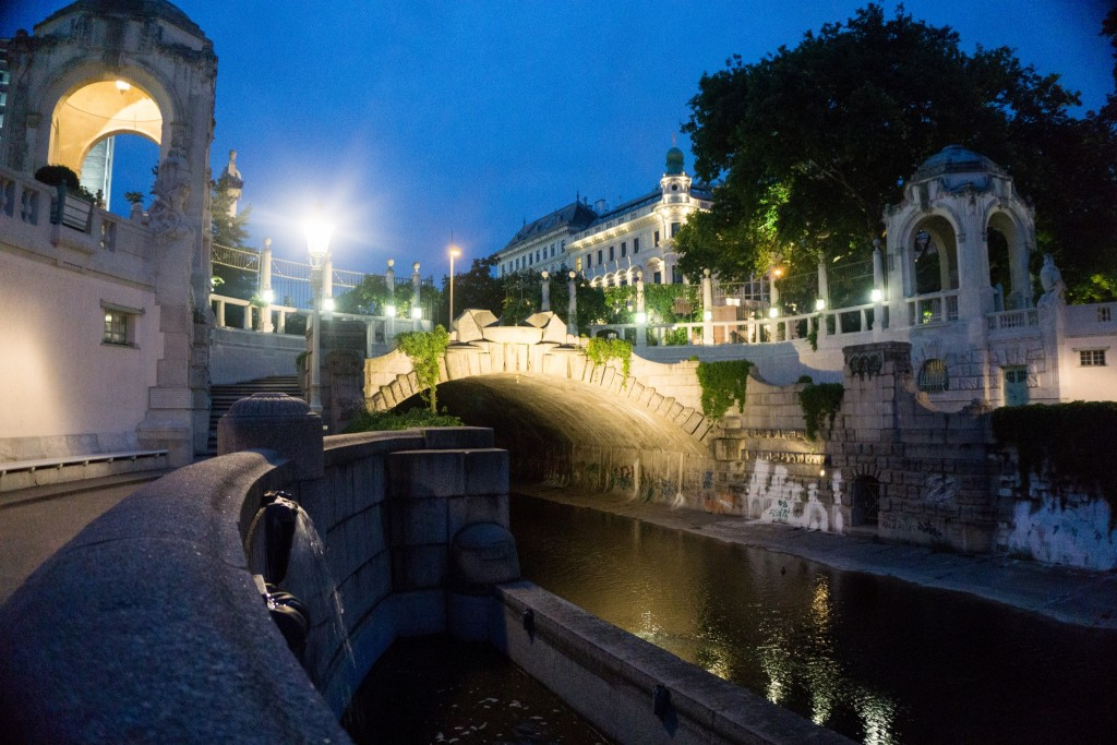 A little charming nighttime Vienna