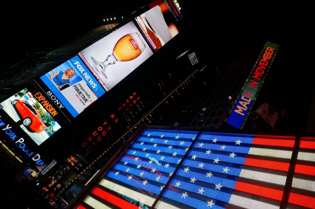 Representin' the USA in Times Square