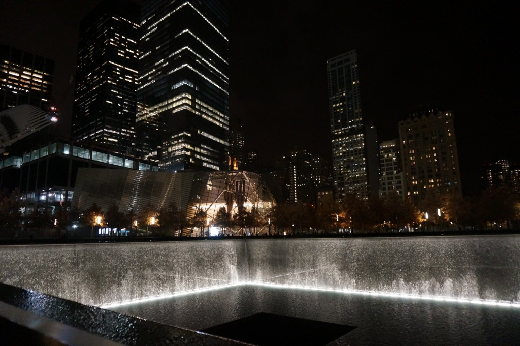 Nighttime views of the memorial at the 9/11 Memorial Museum which we visited on its free admission Tuesdays after 5PM. Though the line was long, it moved quickly. If you're interested in the tragic events that unfolded on 9/11, this is highly recommended.