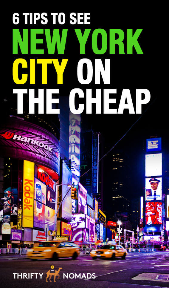 Want to visit New York City & NOT break the bank? Here\'s 6 tips to visiting NYC on the cheap. #newyorkcity #newyorkcitycheap #budgettravel #NewYorkbudget