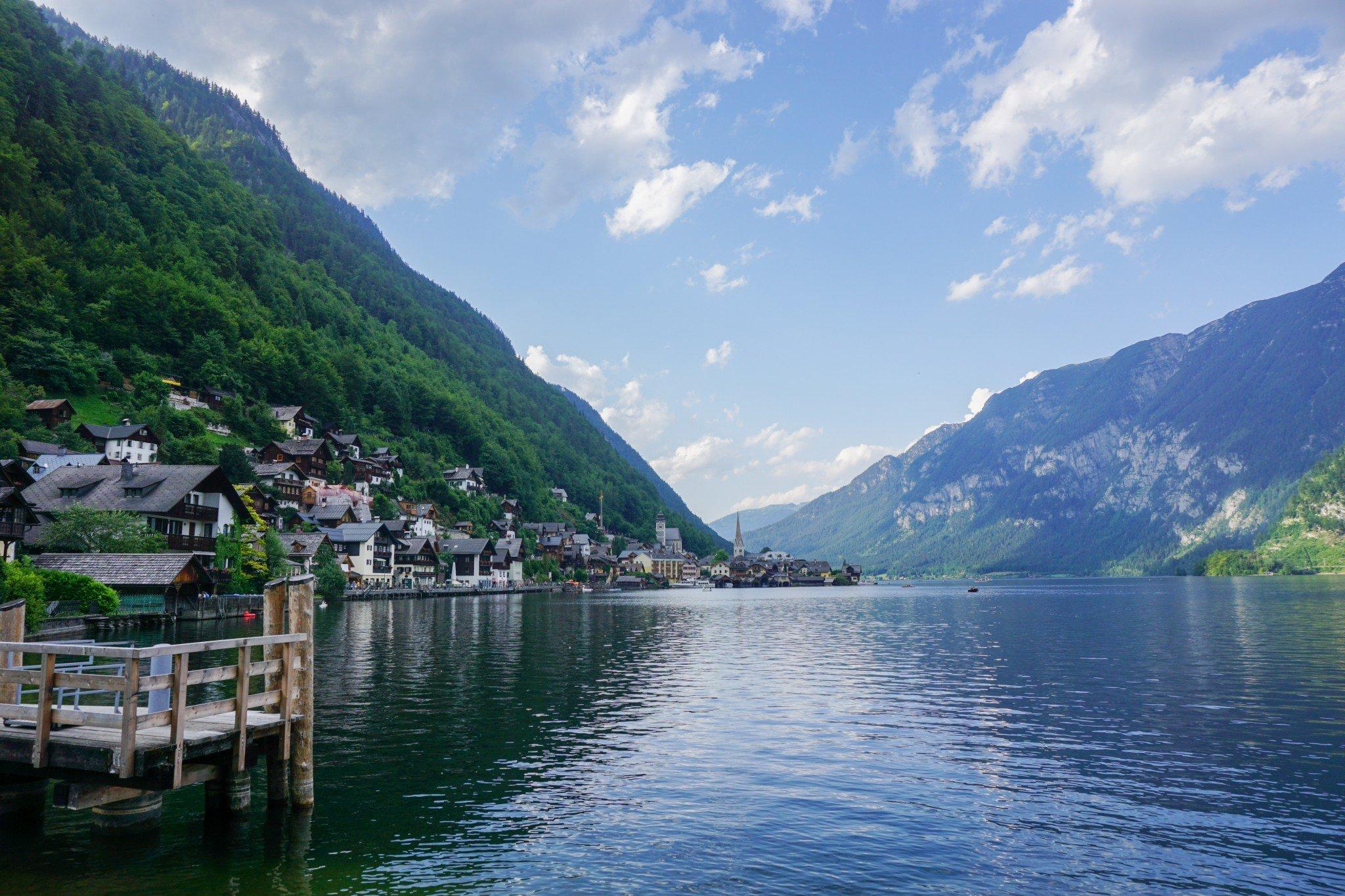 The lakeside town of Halstatt