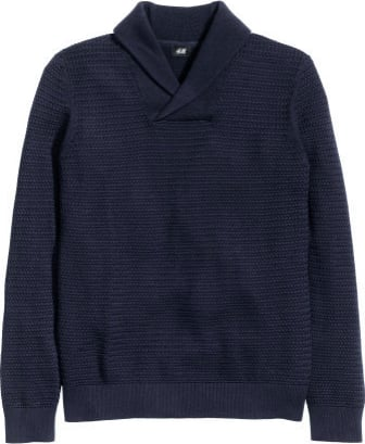 HM sweater navy mens