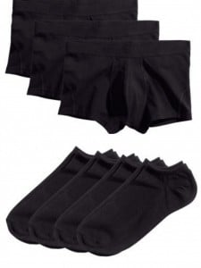 hm men black ankle socks briefs