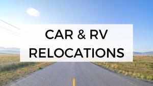 Car, RV & campervan relocations