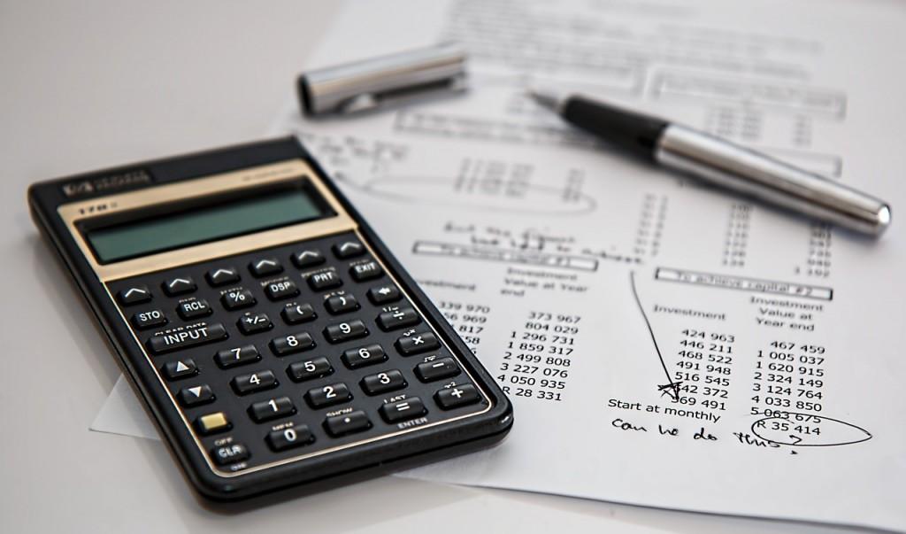 calculator budgeting paper