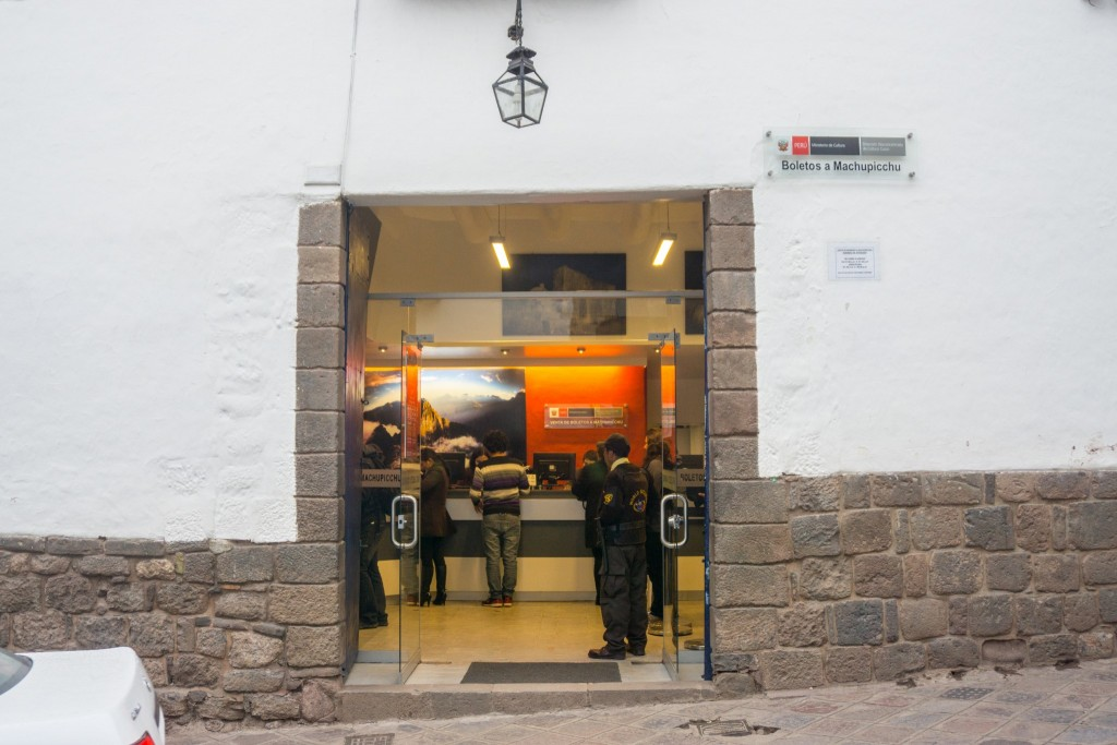 Machu Picchu Cusco ticket office