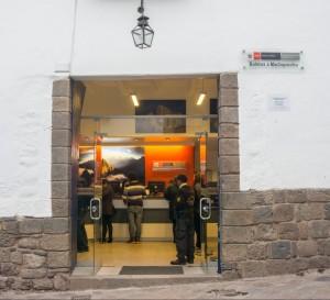 Machu Picchu ticket office Cusco