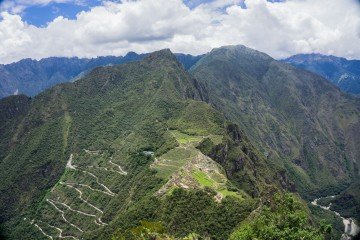 Sweeping views from the top of Huaynu Picchu