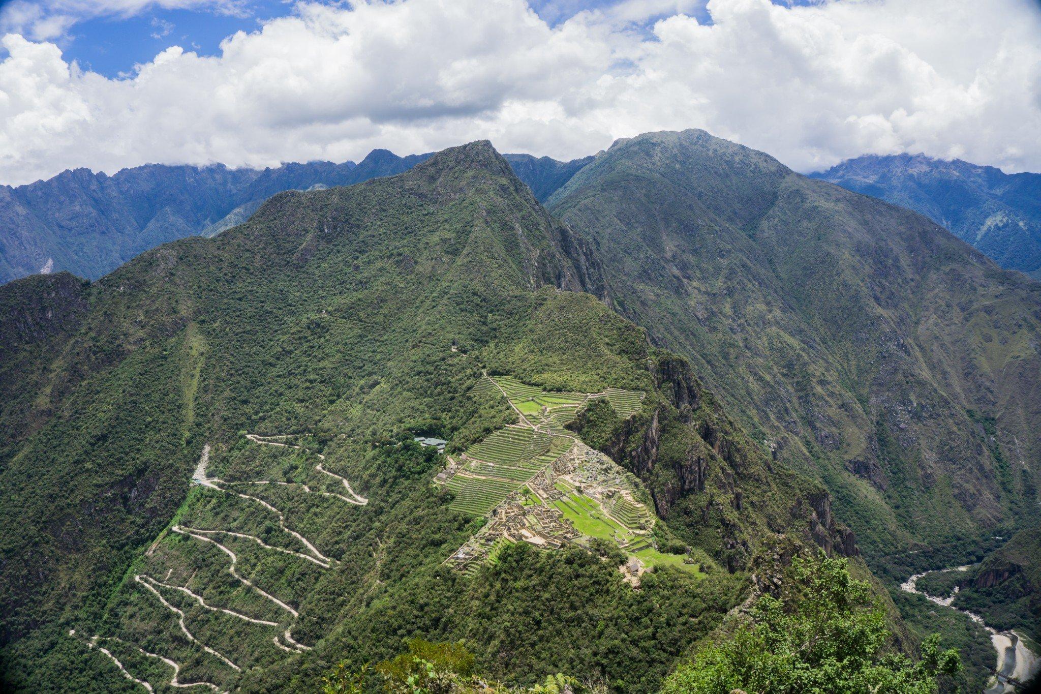 Views Machu Picchu from Huaynu Picchu
