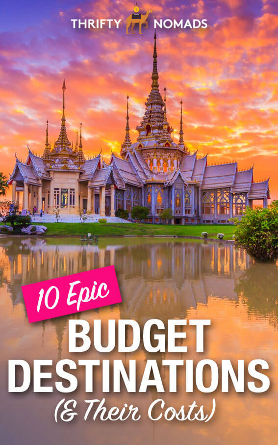 10 epic budget travel destinations & a breakdown of their costs. #budgettravel #cheaptravel #travelinspiration