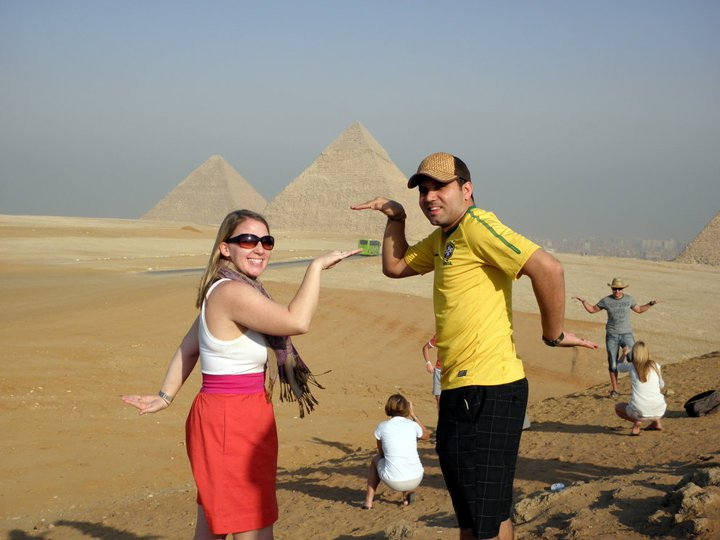 Jessica and Adriano in Cairo, Egypt