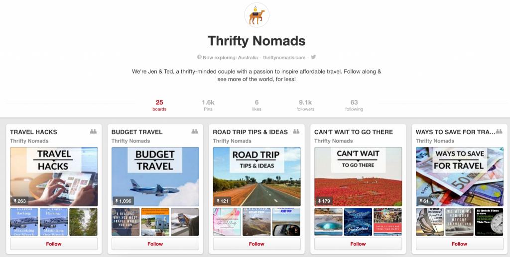 Thrifty Nomads pinterest