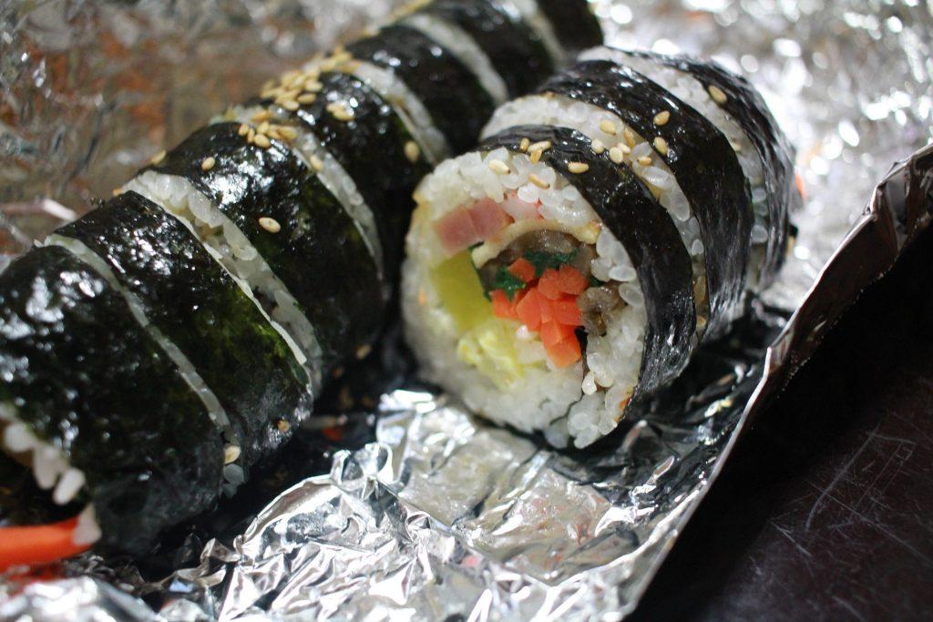 Korean sushi cheap street food