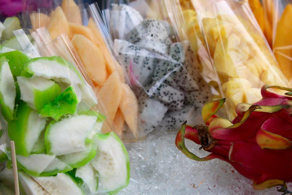 chopped fruit cheap street food