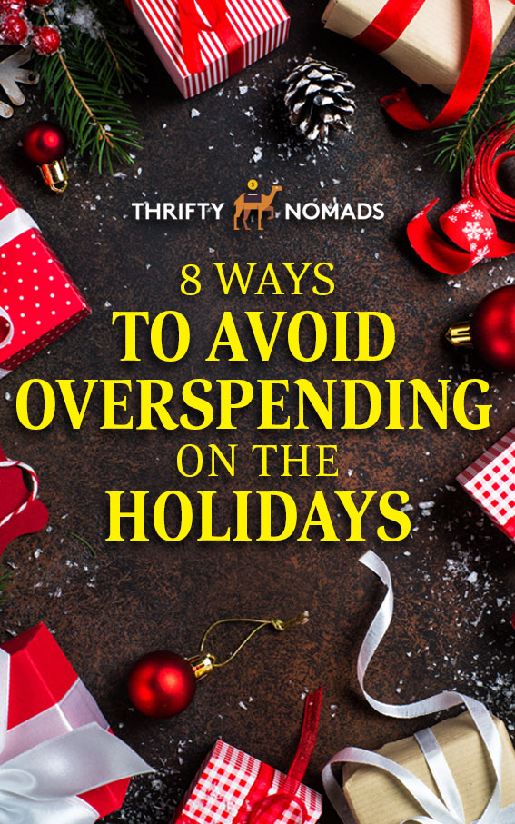 Curbing holiday spending is easier than you think, and is a simple way to keep your travel bank full. Here\'s how to cut unnecessary spending in holiday season. #holidayinspiration #saveathome