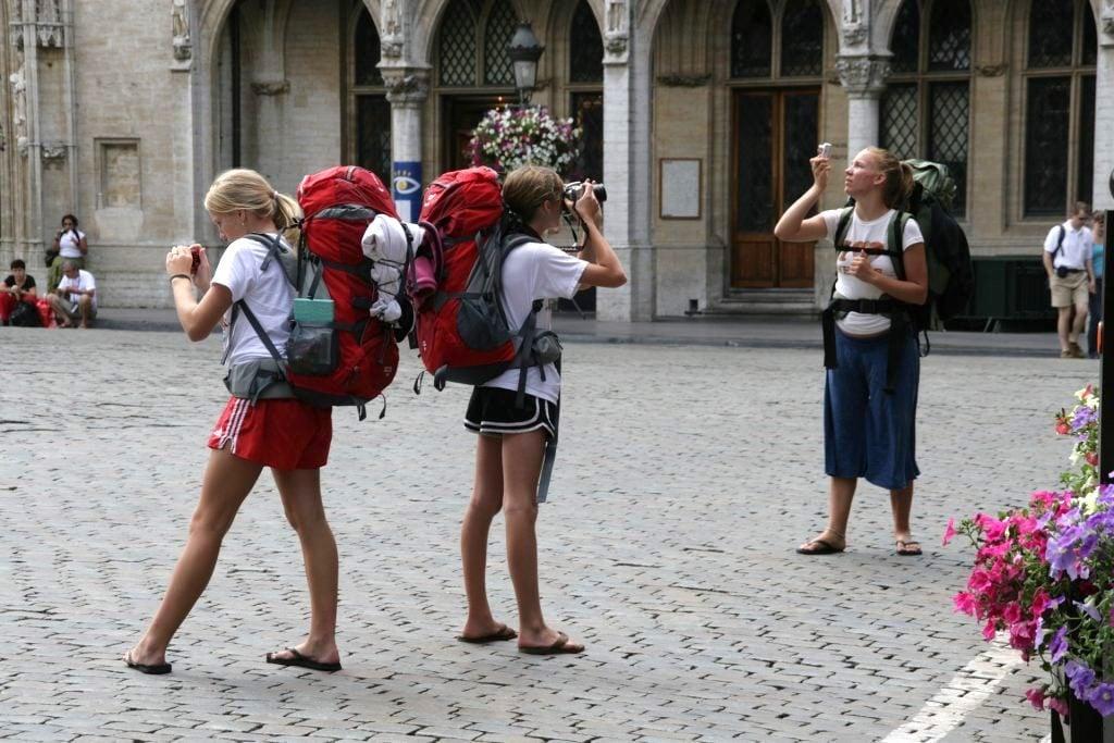 overzealous backpacker