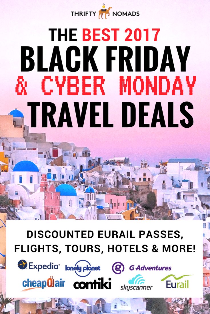 The best cyber monday travel deals 2017 thrifty nomads and there you have it the best cyber monday black friday travel deals for 2017 fandeluxe Images