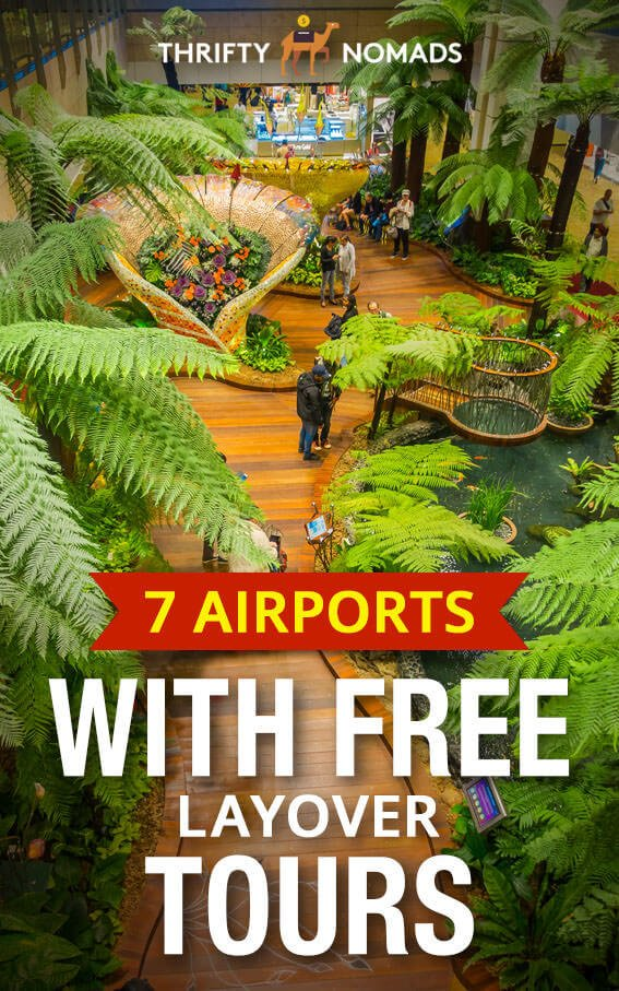 These 7 airports offer FREE tours, no visa required during your layover. Be sure to check them out on your next layover! #airportlayover #airportstopover #freeairporttour #freelayovertour
