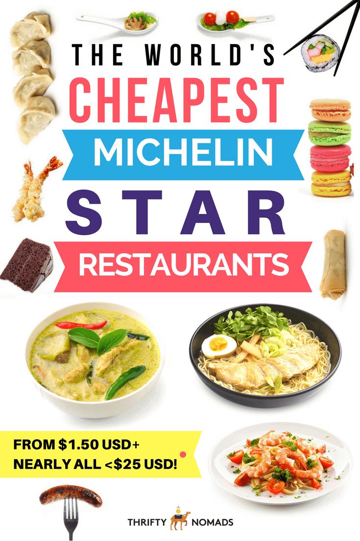 Michelin star restaurants <$25? Yep, there\'s plenty! Here\'s the world\'s CHEAPEST Michelin star restaurants! #cheapmichelinstar #michelinrestaurant #cheapcmichelinfood