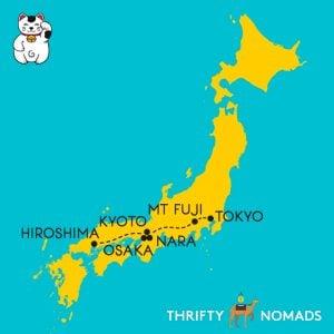 Tokyo Fuji Nara Osaka Kyoto Hiroshima