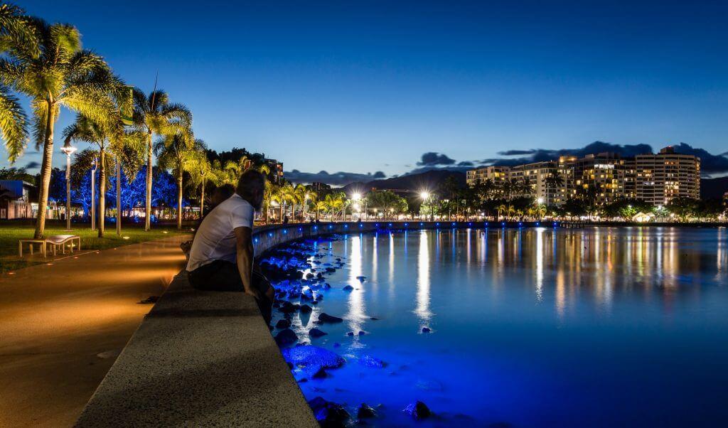 Cairns at nightfall