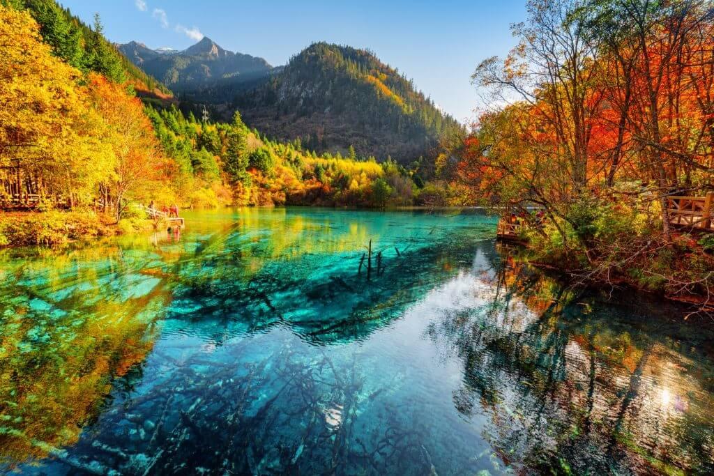 Озеро пяти цветов, национальный парк Цзючжайгоу