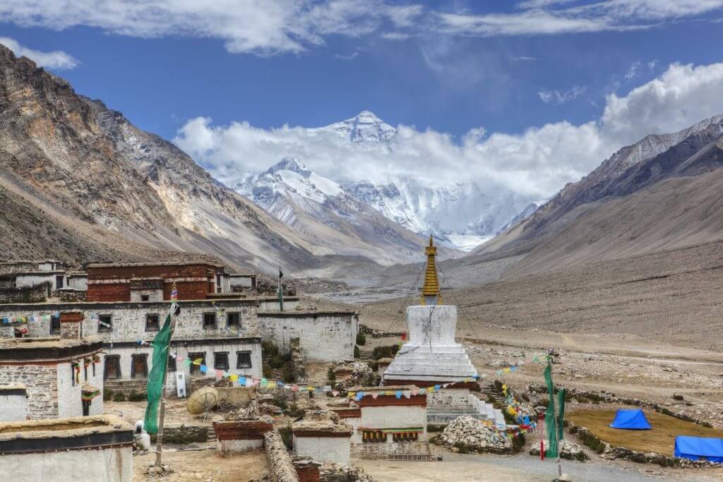 Монастырь Ронгбук, гора Эверест, Шигадзе