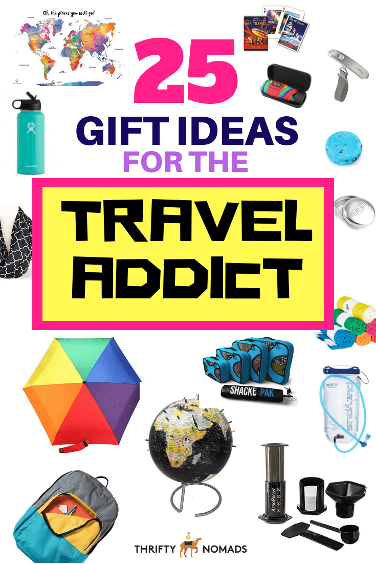 Finding a gift for the traveller in your life can be challenging. Here\'s 25 unique gift ideas to intrigue any globetrotter! #travelgiftideas #travelpresents #travellergift #uniquetravelgifts