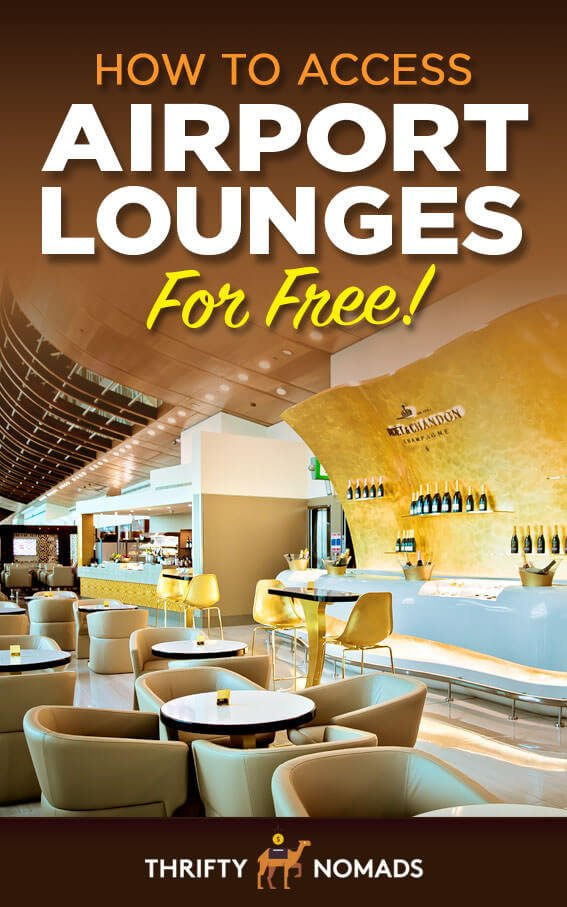 Free airport lounge access isn\'t just for first class flyers. Here\'s our BEST hacks to get cheap or free entry to airport lounges worldwide!