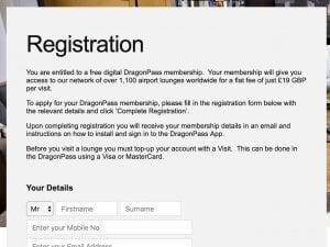 Free DragonPass Regsitration